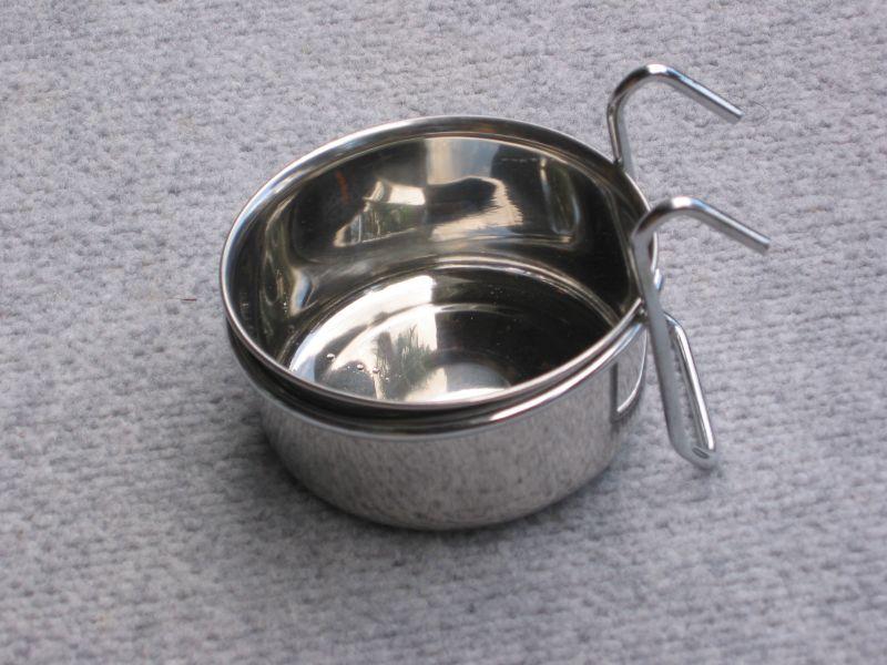 Stainless 3l Feeder Bowl Hanger For Bird Rat Buys 2 Bowls
